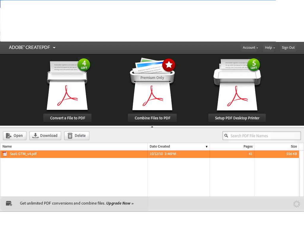 Adobe Acrobat X Pro 12.0 Screenshot