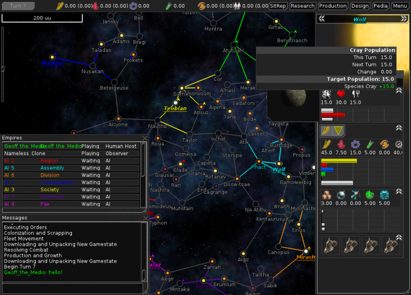 FreeOrion 0.4 Screenshot
