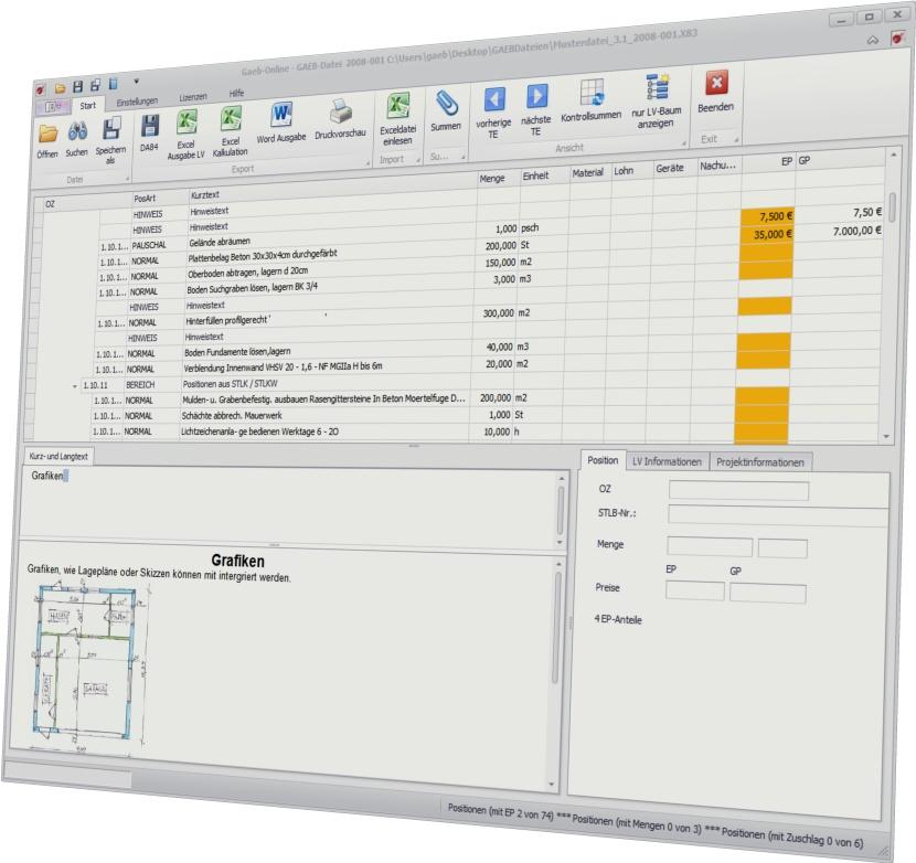 GAEB-Online 2014 1.0.21 Screenshot