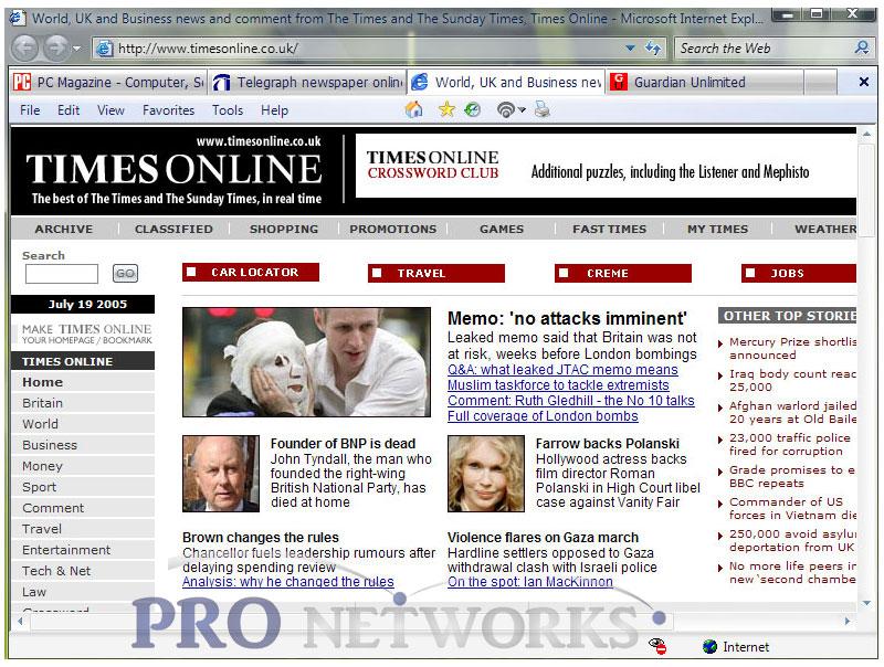 Internet Explorer 7 7 Screenshot
