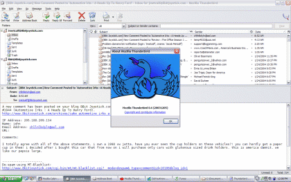Mozilla Thunderbird 52.3.0 Screenshot