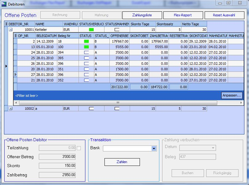 FibuExpress Screenshot