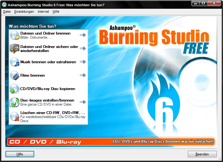 Ashampoo Burning Studio 6 FREE 6.80 Screenshot