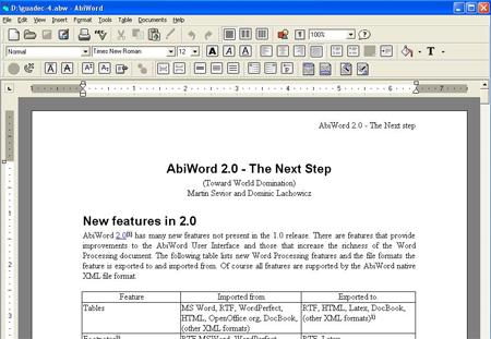AbiWord Screenshot