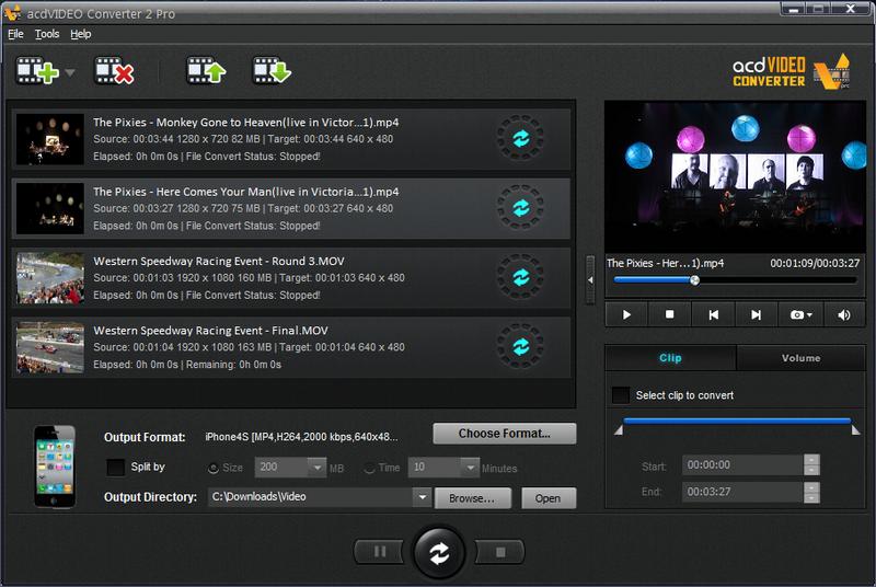 acdVIDEO Converter Pro Screenshot