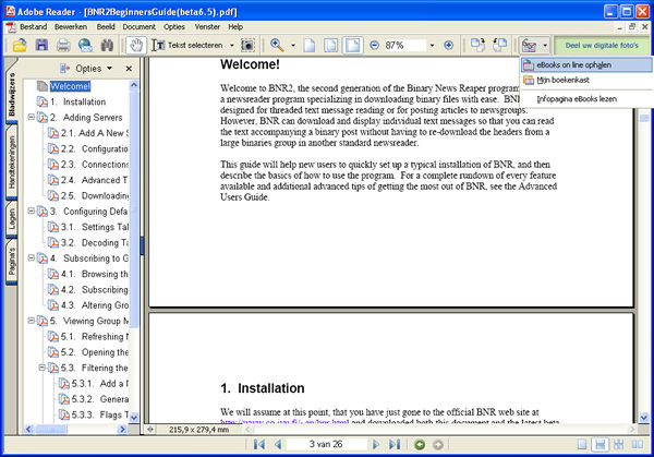 Adobe Reader DC 2017 Screenshot