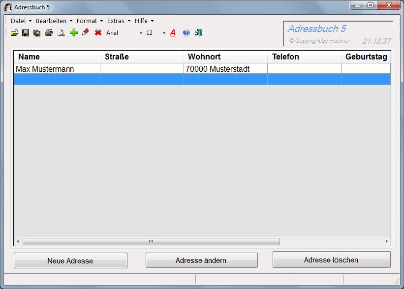 Adressbuch 5.0 Screenshot