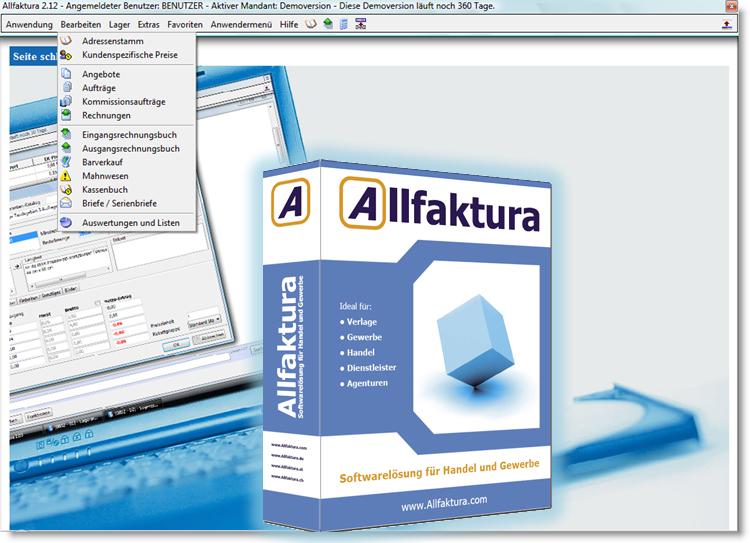 Allfaktura Warenwirtschaft 2.25 Screenshot