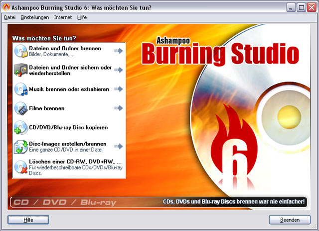 Ashampoo Burning Studio Screenshot