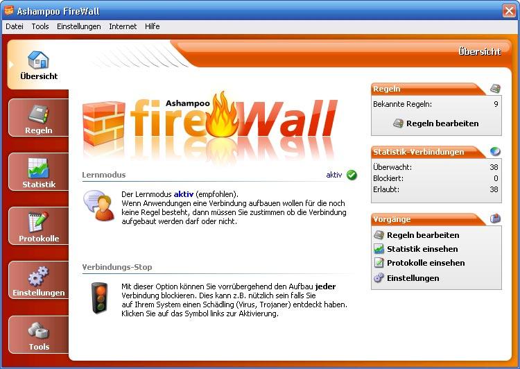 Ashampoo Firewall Screenshot