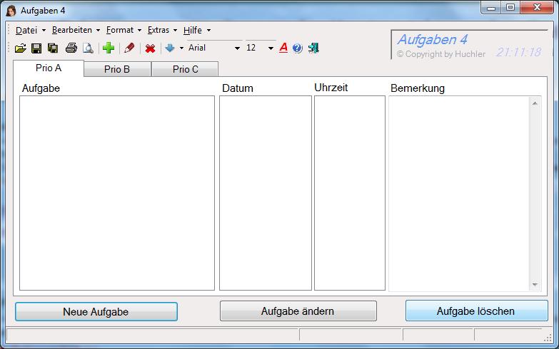Aufgaben 4.0 Screenshot