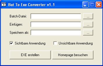 Bat To Exe Converter Screenshot