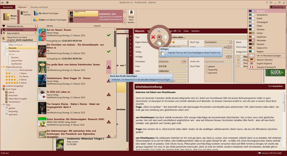 Bucharchiv Screenshot