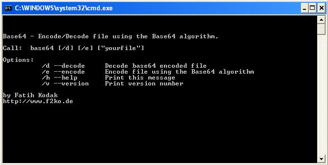 Base64 De-/Encoder Screenshot