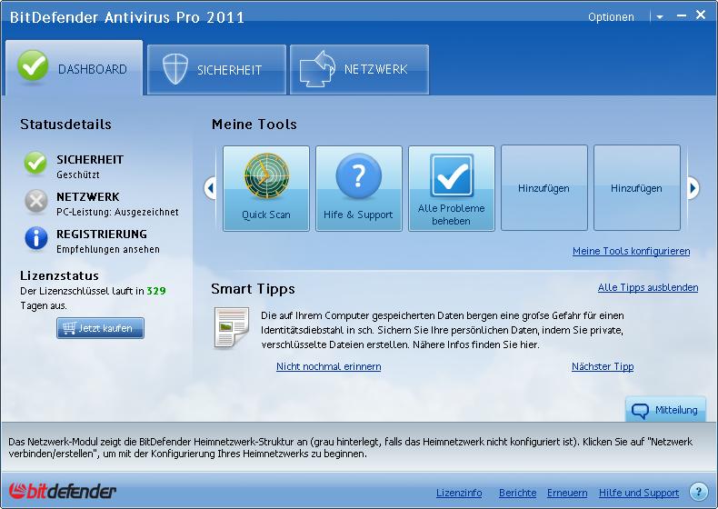 BitDefender Antivirus Plus 2012 Screenshot