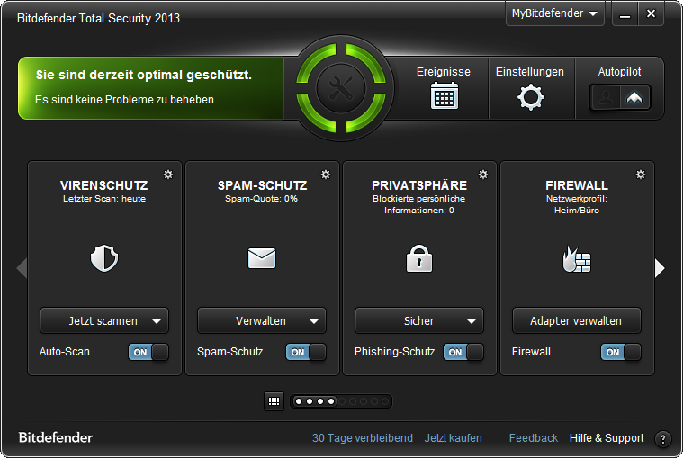 Bitdefender Sphere 2013 Screenshot
