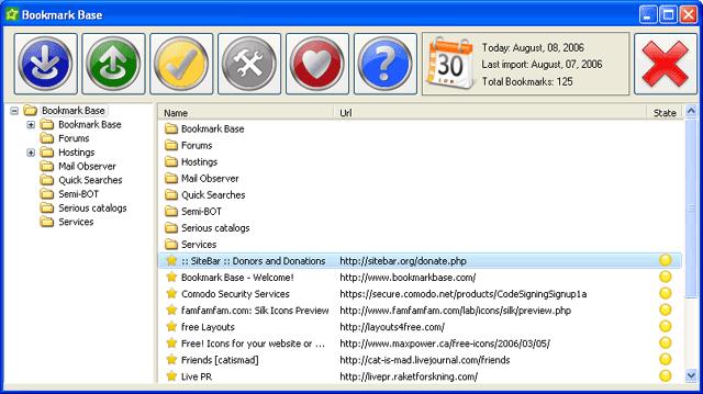 Bookmark Base Screenshot