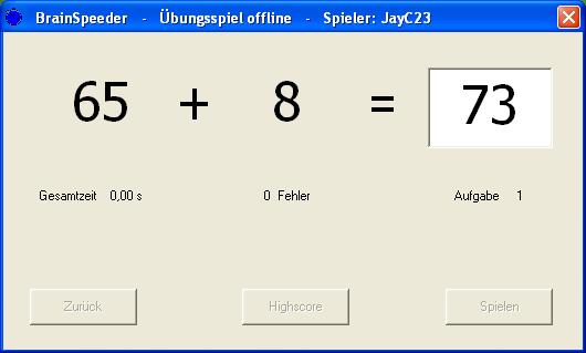 BrainSpeeder Screenshot