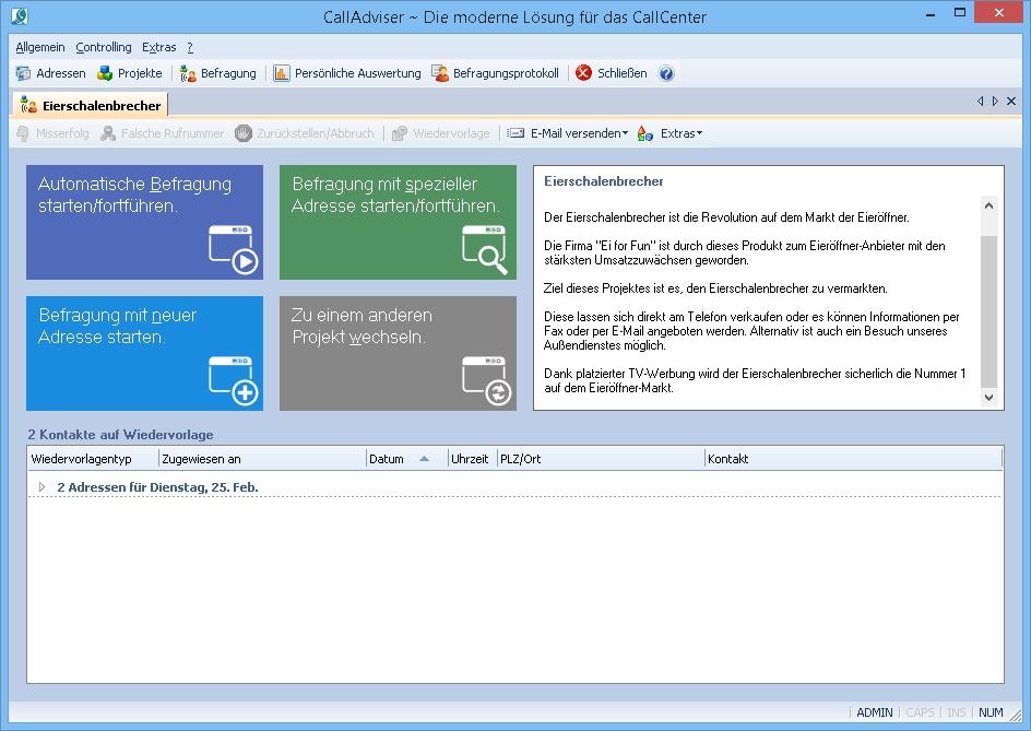 CallAdviser 4 Screenshot