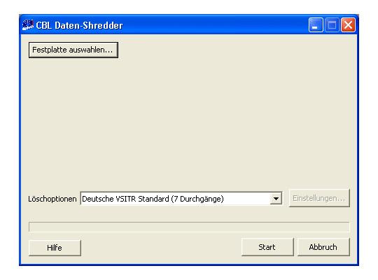 CBL Datenschredder 2.0 Screenshot