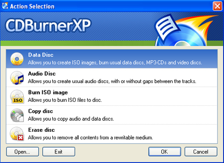CDBurnerXP 4.5.7 Screenshot