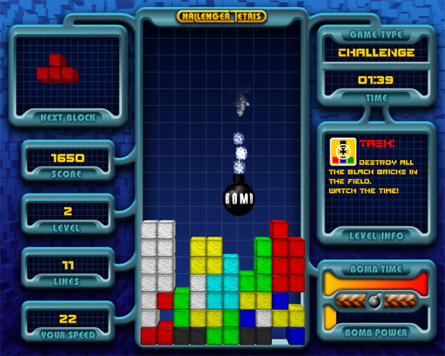 Challenger Tetris 1.3 Screenshot