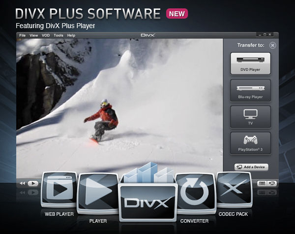 DivX Player 9.1.1 Screenshot