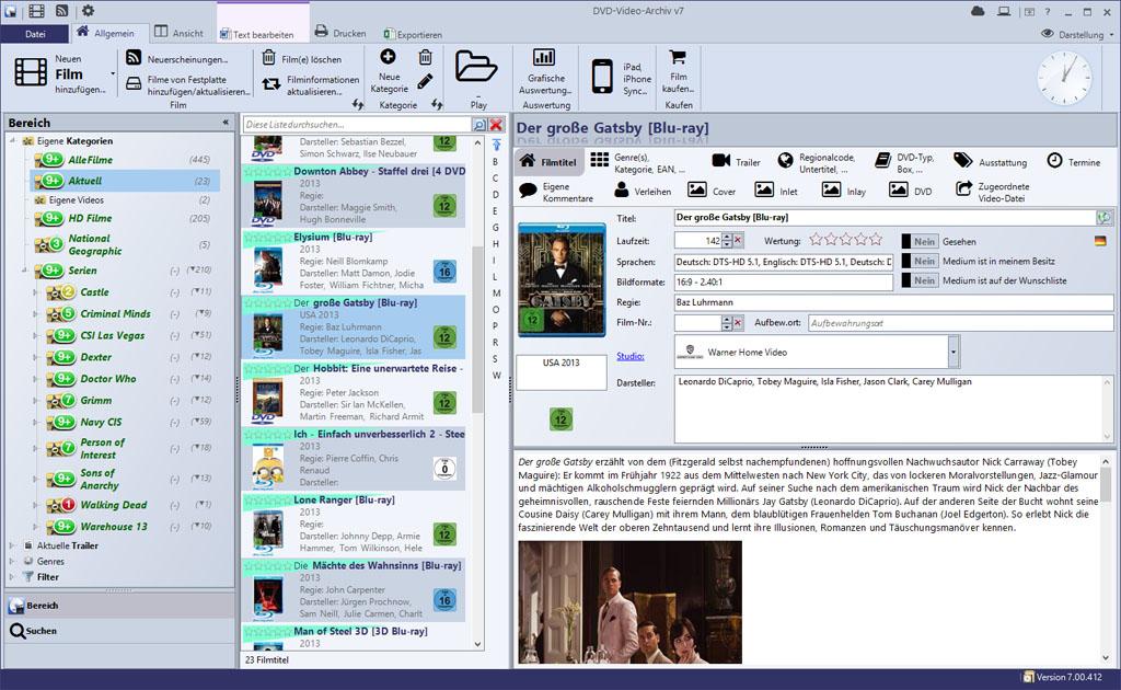 DVD-Video-Archiv v7 7.00.424 Screenshot