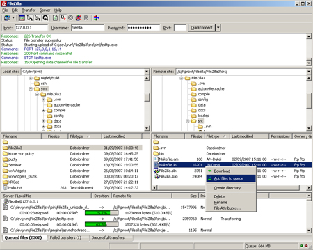 FileZilla 3.24.1 Screenshot