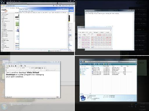 Finestra Virtual Desktops 2.1 Screenshot