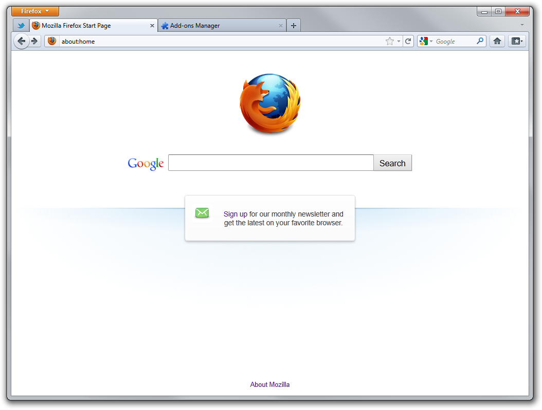 Firefox 45.0.1 Screenshot