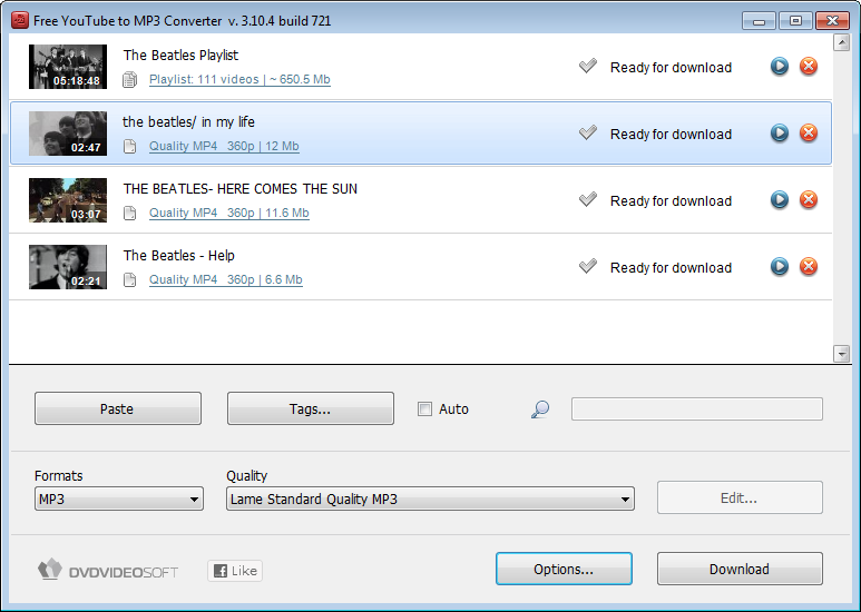 Free YouTube to MP3 Converter 3.12 Screenshot