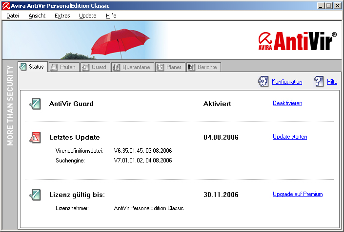 Avira Free Antivirus 14.0.4 Screenshot