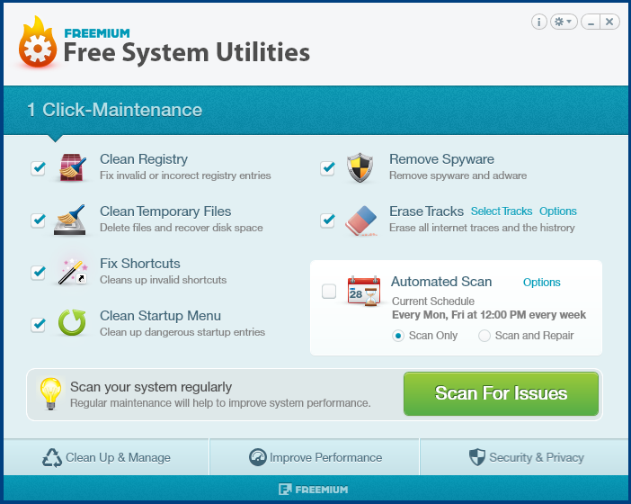 Free System Utilities Screenshot