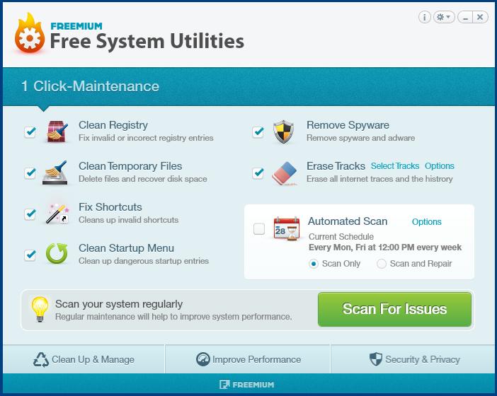 Free System Utilities 1.0 Screenshot