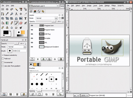 GIMP 2.8.20 Screenshot