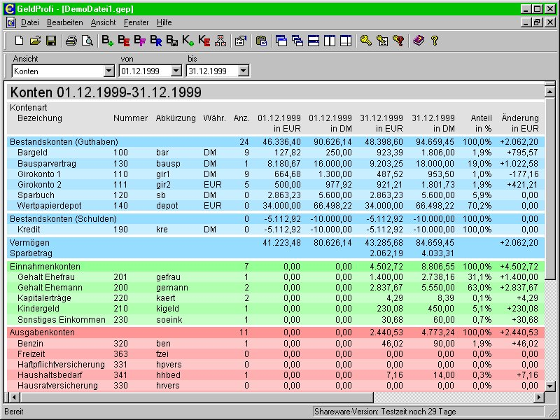 GeldProfi 2.11.1 Screenshot