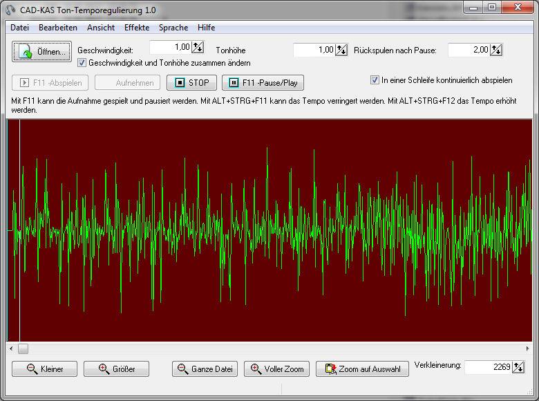 Ton-Temporegulierung Screenshot