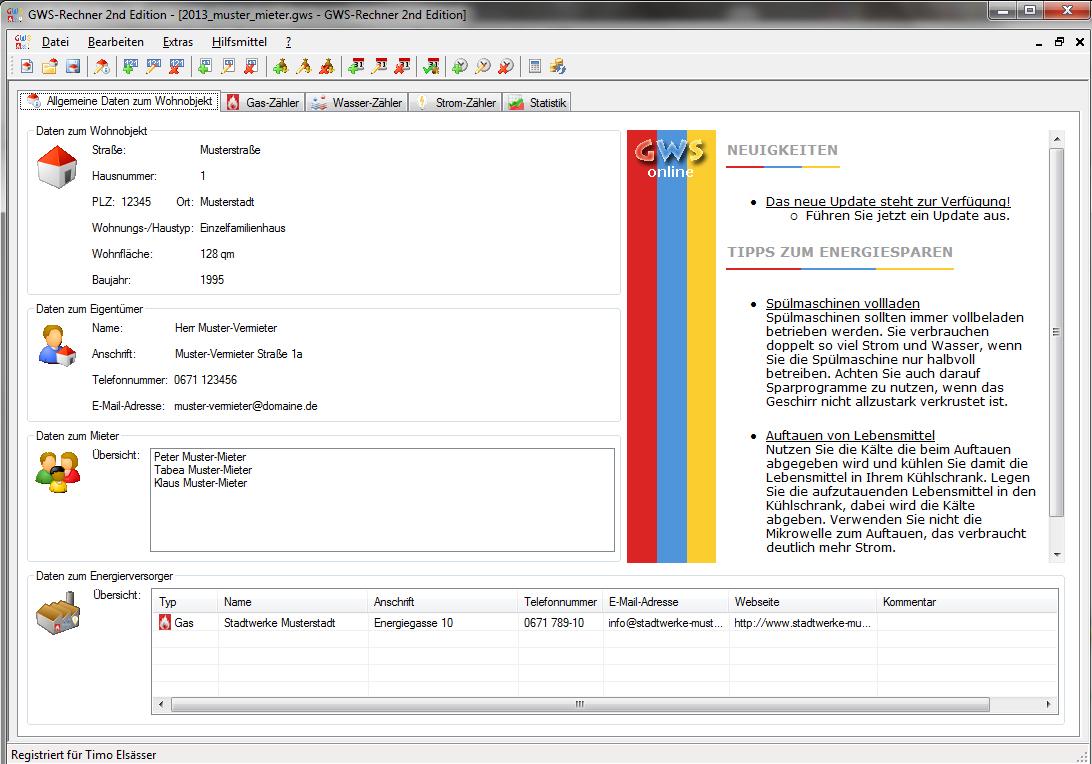 GWS-Rechner 2nd Edition Screenshot