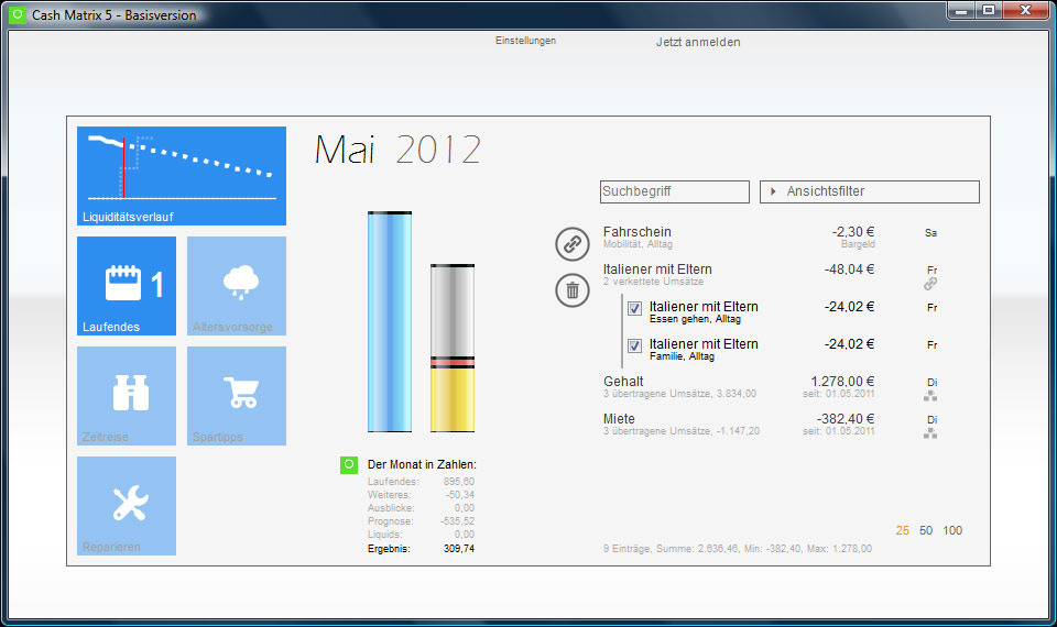 Cash Matrix 5 1.0 Screenshot