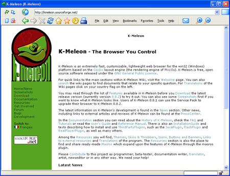 K-Meleon 1.5.4 Screenshot