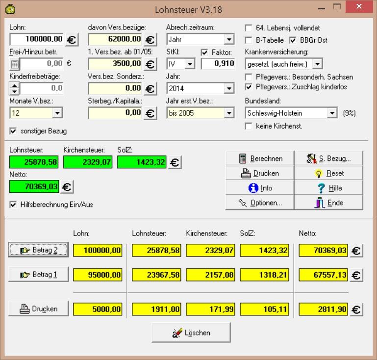 Lohnsteuer für Windows 3.21 Screenshot