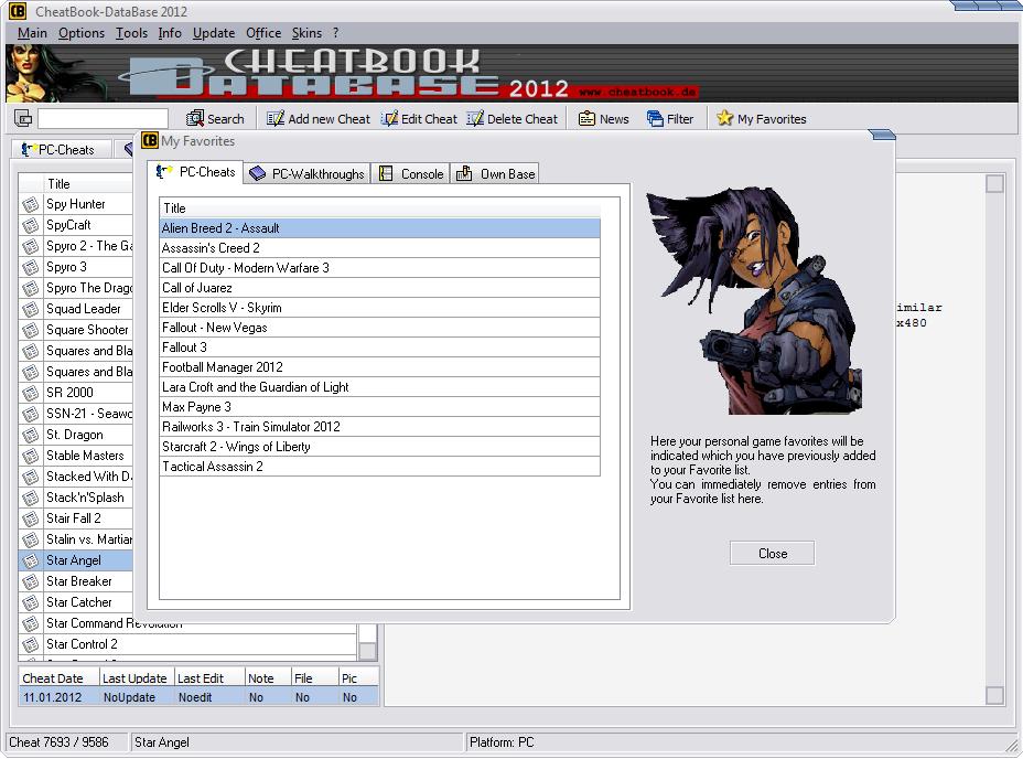 Cheatbook Database Screenshot