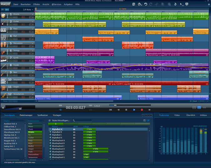 MAGIX Music Maker MX Screenshot