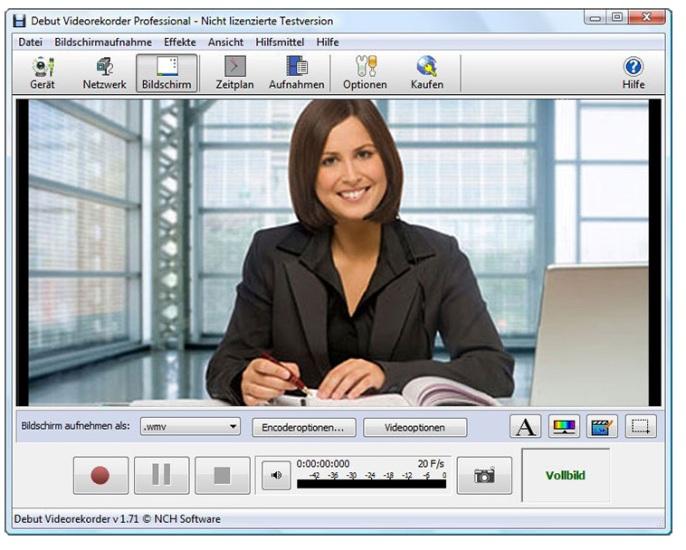 Debut Videoaufnahme-Programm 1.95 Screenshot