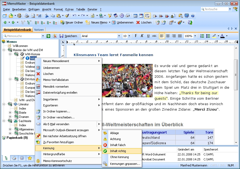 MemoMaster 5.5.03 Screenshot