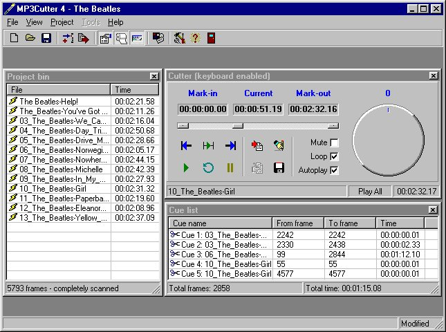 MP3Cutter 4.0 Screenshot