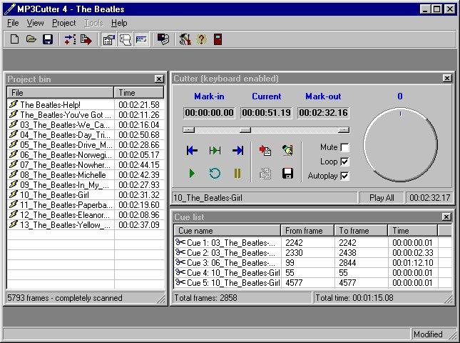 MP3Cutter 4.0 Screenshot