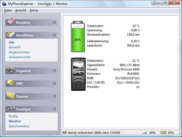 MyPhoneExplorer 1.8.8 Screenshot