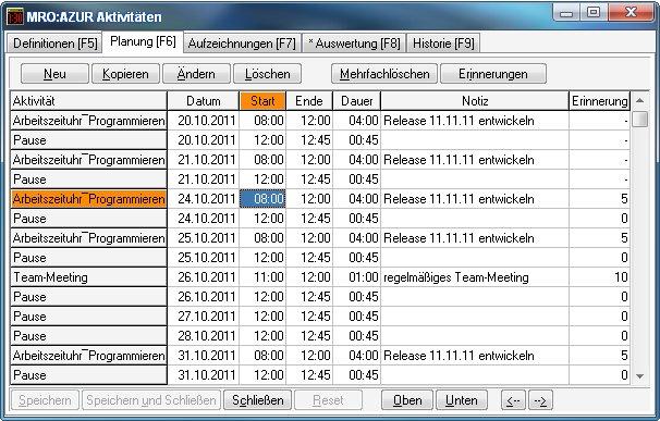 MRO Arbeitszeituhr 16.12.24 Screenshot